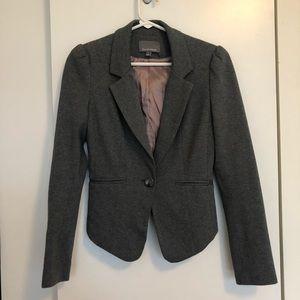 Anthropologie Tinley Road Gray Cotton Blazer XS